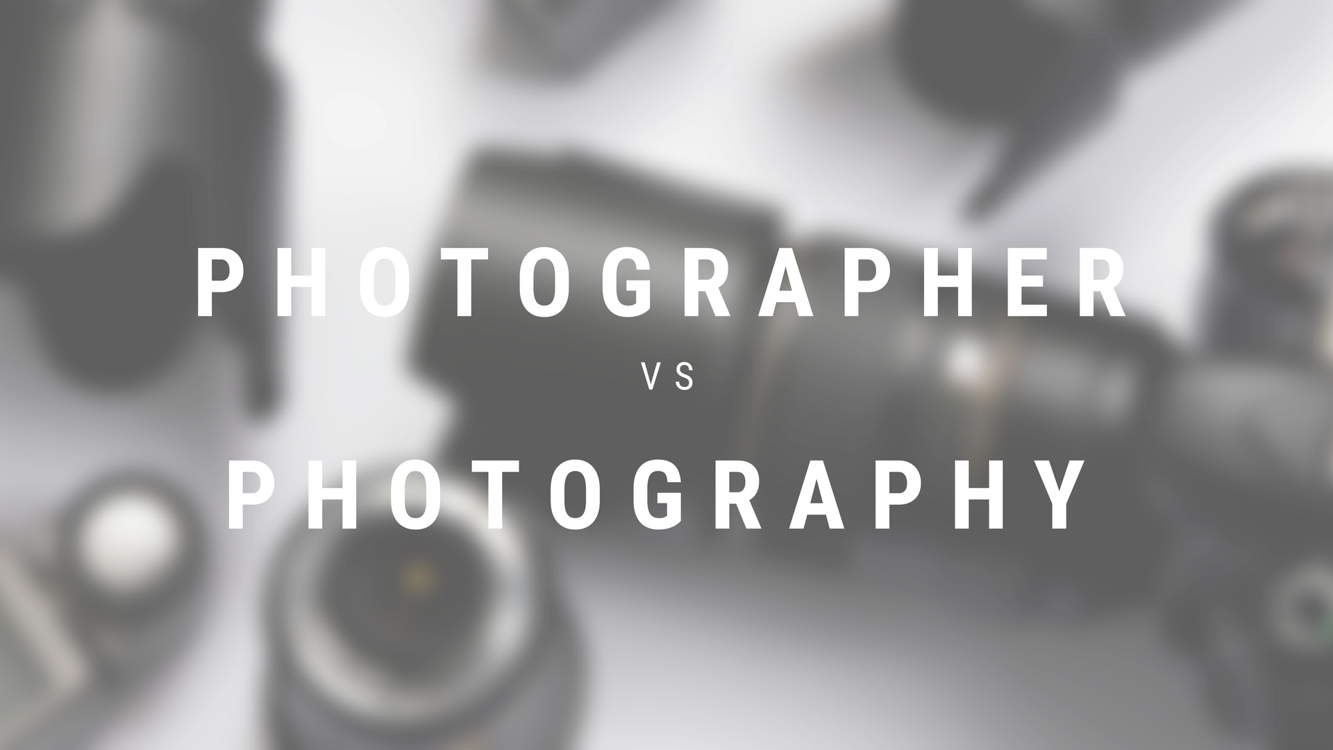 Photographer vs Photography